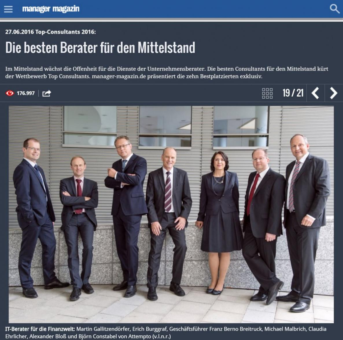 Top Consultant 2016 - Manager Magazin