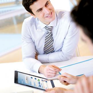 Tablet gestützte Bankberatung