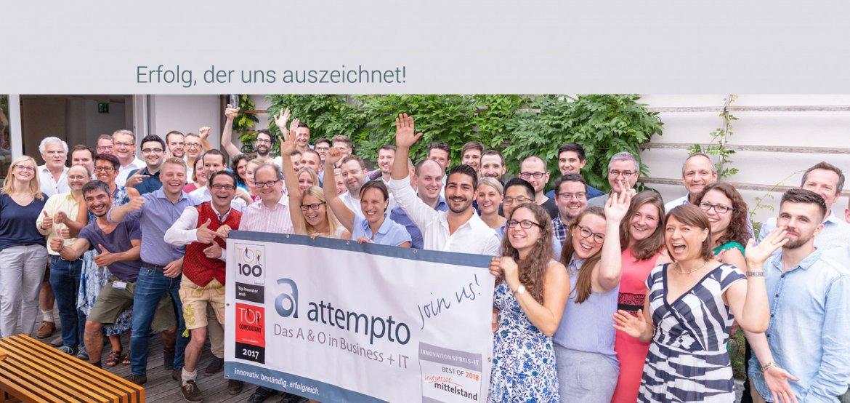 attempto Gruppenbild - Erfolg, der uns auszeichnet!